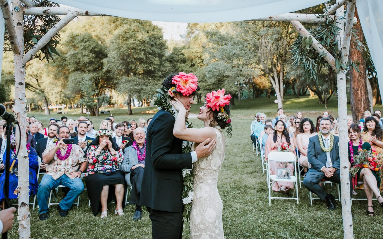 Backyard wedding in Placerville